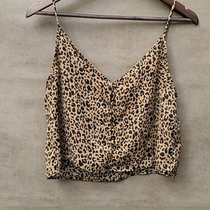 Wild Fable Cheetah Print crop top size M